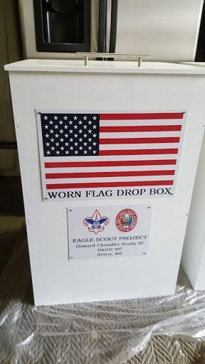 Worn Flag Drop Box
